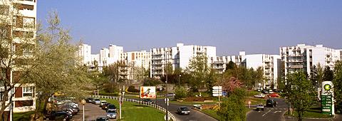 Vue d'un quartier urbanisé des Ulis