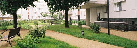Vue d'une copropriété en Essonne