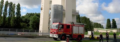 Vue de la tour de manoeuvre de l'Ecole départementale d'incendie et de secours de l'Essonne