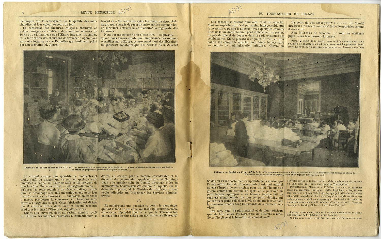 4 - L'œuvre du soldat au front (suite), article extrait de la revue Touring-Club de France, août 1914-avril 1915. (032NUM040/04)