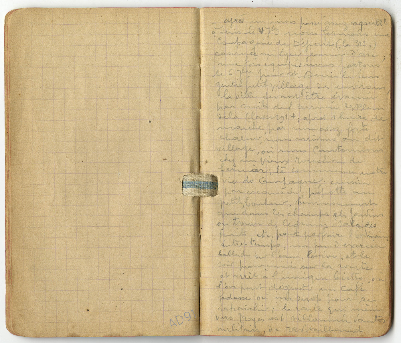 7 – Carnet des « souvenirs de campagne » d'Eugène Levet, extrait du 4 septembre 1914. (032NUM045/010)
