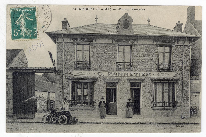 La maison G. Pannetier à Mérobert, [début 20e s.], carte postale, noir et blanc, éditeur Pannetier. (032NUM046/16)