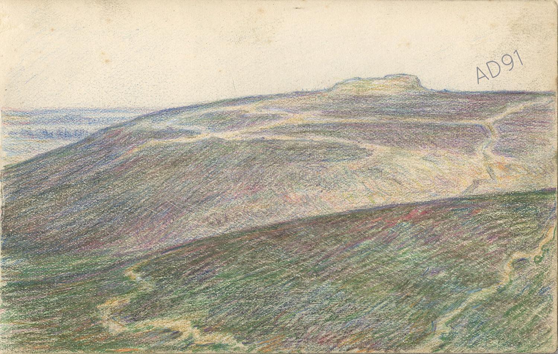16 - « Fort de Vaux », croquis de Lucien Duclair, sd. (93J3/11)