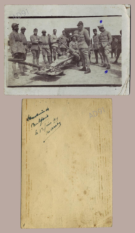 25 - Marcel Rogé et ses compagnons en Bulgarie, 12 juin 1919. '032NUM044/91)