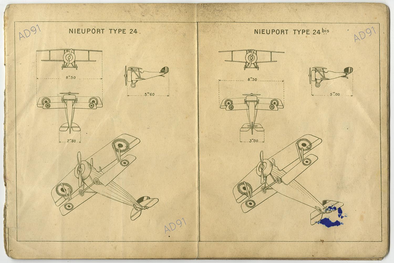 30 - Avions français, alliés et allemands, VIIIe armée, D. C. A., carnet. (032NUM019/096)