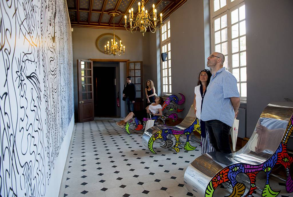Exposition de Robert Combas au Domaine départemental de Chamarande