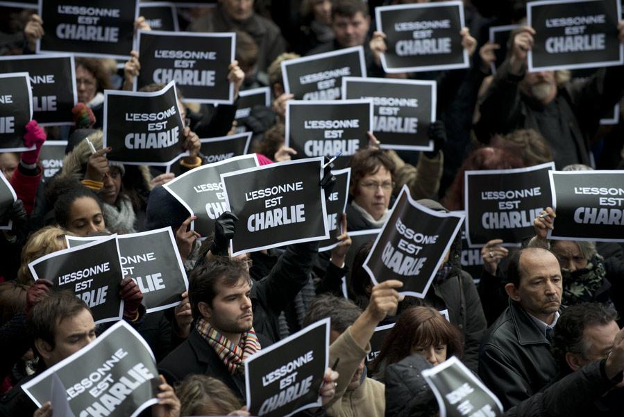 Hommage aux victimes de l'attentat de Charlie Hebdo